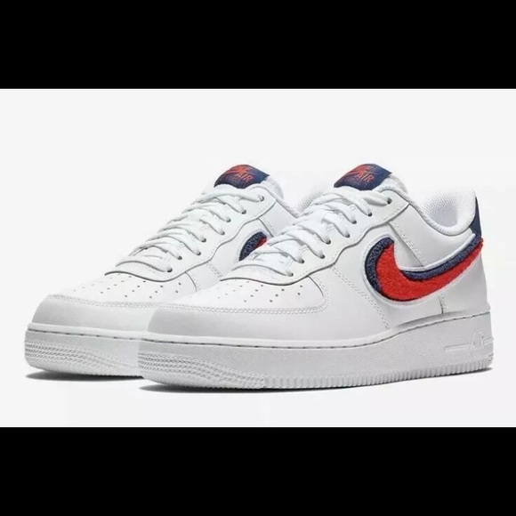 New Nike Air Force 1 '07 LV8 Chenille Swoosh NWT